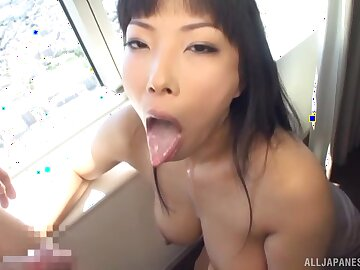 Large breasts Nozomi Mikimoto knows how almost suck a large dig up