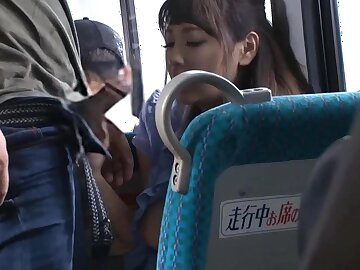 Office Lady Is Getting Fondled And Screwed On The Bus